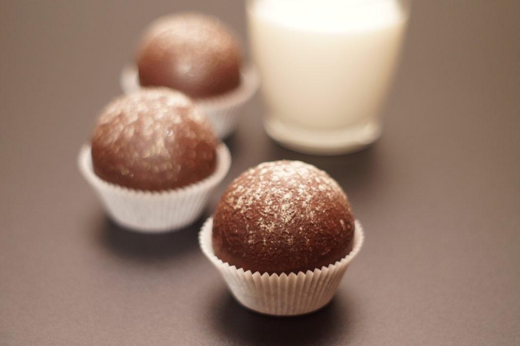 Zartbitter Schokoladen Kugeln für heiße Schokolade